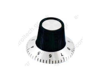 Κουμπί Πλαστικό 6.4/15 mm με αρίθμηση