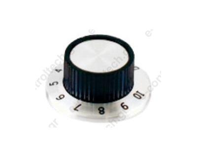 Κουμπί Πλαστικό 6.4/23.8 mm με αρίθμηση