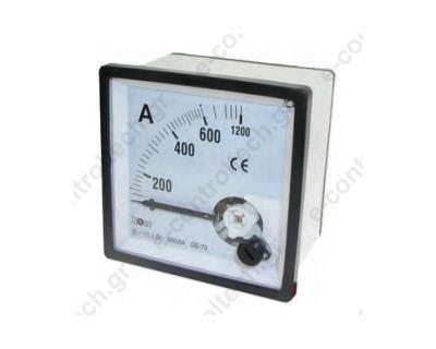 Αμπερόμετρο Βελόνας Αναλογικό 60Α ΑC 72x72