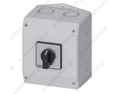 Διακόπτης 1-0-2 3Χ25 Α/9.5 KW Σε Κουτί IP65