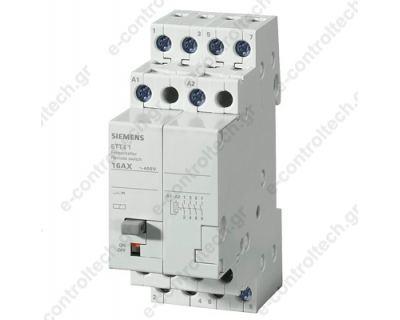Ρελέ καστάνιας 4P 16A 230V με πλήκτο manual 5TT5