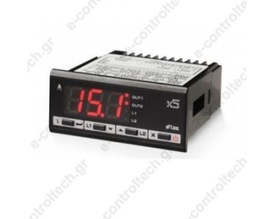 Θερμοστάτης TC J/K 2 Ρελέ 12Vac/dc