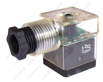 Φις Πηνίων Μεγάλο  24V με LED + Προστασία