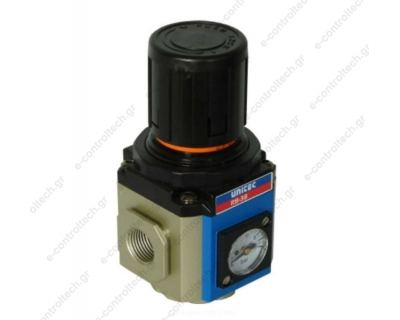 Ρυθμιστής Πίεσης 1/4'' με βάση και μανόμετρο