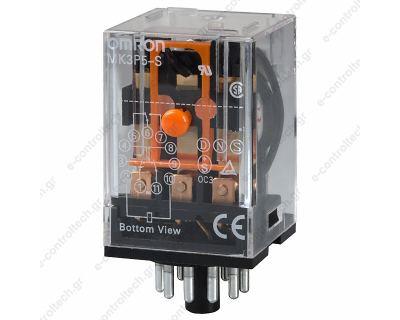 Μικρορελέ Λυχνίας 3CO 10A 12VDC
