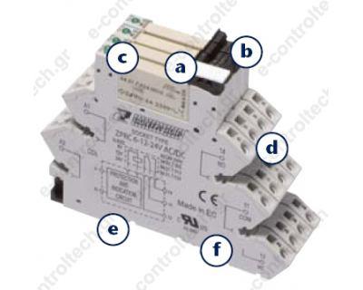 Κλεμορελέ 1CO 6A 24V AC/DC ΜΕ LED
