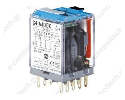 Μικρορελέ Λυχνίας 4CO 5A 24VDC