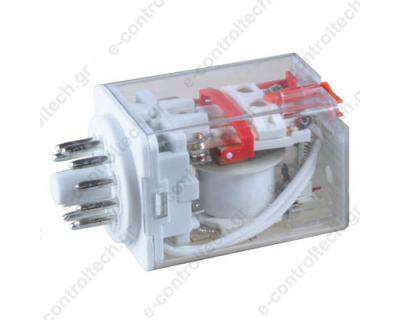Μικρορελέ Λυχνίας 3CO 10A 110VAC με LED