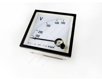 Βολτόμετρο Βελόνας Αναλογικό 96x96 500V