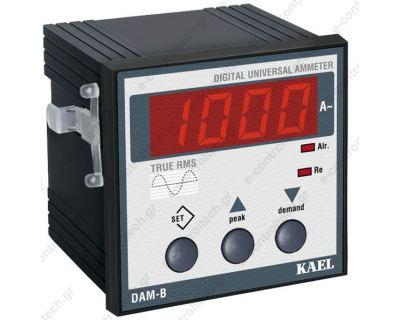 Αμπερόμετρο ψηφιακό 72Χ72 230V AC