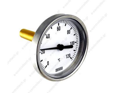 Θερμόμετρο 0-120C Φ63/Φ12Χ60 πίσω σπείρωμα G 1/2