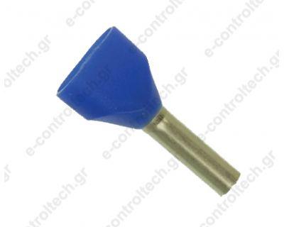 Μύτες Μπλε 2Χ2.5 mm Η2.5/19D (Συσκευασία 50 τμχ)