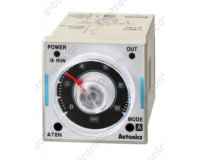 Χρονικό Ρελέ 6 Λειτ. 0,5sec-100h  24V AC/DC 2CO 8P