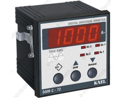 Αμπερόμετρο Ψηφιακό, 2 Εξοδοί, 72Χ72, 230 V