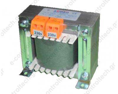 Μετασχηματιστής Ανοιχτού Τύπου 230/230V 200VA IP00