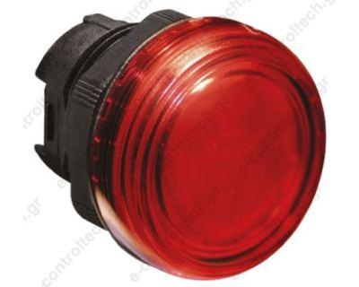 Κεφαλή Λυχνία Κόκκινη Πλαστική