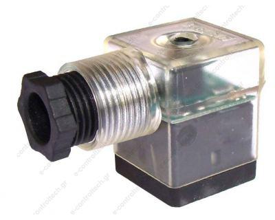 Φις Πηνίων Μικρό 24V με LED + Προστασία
