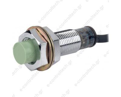 Επαγωγικός Διακόπτης Φ12 100-230 VAC NC 2 Kαλωδίων