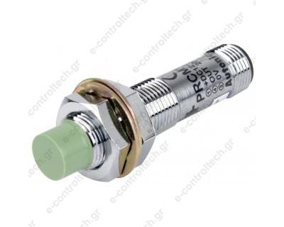 Επαγωγικός Διακόπτης Φ12 NPN NO Βύσμα Μ12/4Ρ 4mm