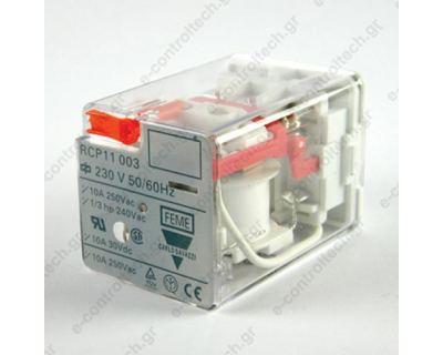 Μικρορελέ Λυχνίας 3CO 10A 230VAC με LED