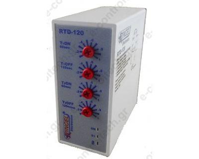 Χρονικό Διπλό με Εντολή Θερμοστάτη RTD-120