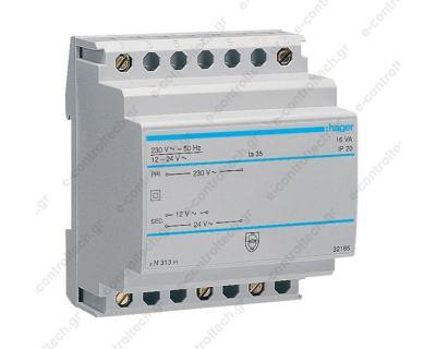 Μετασχηματιστής Ράγας 230V/12-24V 16 VA
