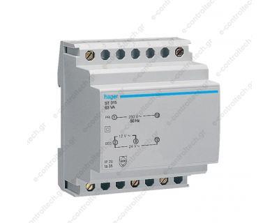 Μετασχηματιστής Ράγας 230V12-24V 63 VA ST315