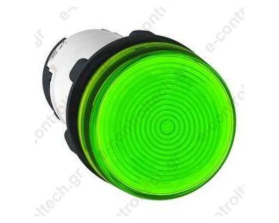 Ενδεικτική Λυχνία Πράσινη Φ22 BA9S Πλαστική