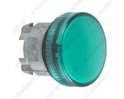 Κεφαλή Λυχνίας Πράσινη Φ22