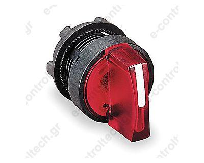 Κεφαλή Διακόπτη LED Φ22 0-1 Κόκκινη Πλαστική