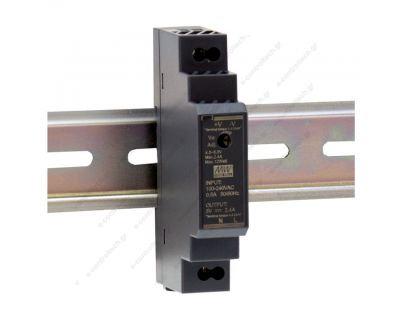 Τροφοδοτικό ράγας 15W-24V-0.63A ultra slim