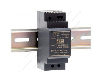 Τροφοδοτικό ράγας 36W-24V-1.5A ultra slim