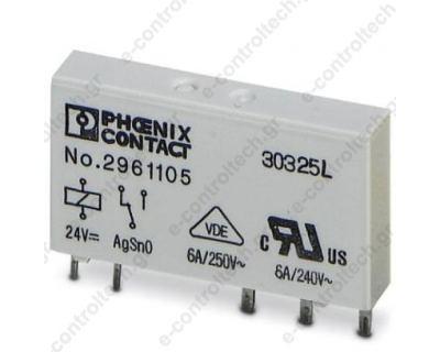 Ρελέ 24 V DC 1CO(SPDT)/6A για κλεμορελέ PHOENIX PL
