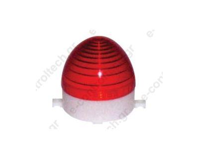 Φάρος Strobe (80x86mm) 230V AC Κόκκινος