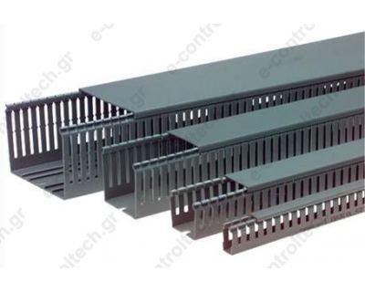Κανάλι Πλαστικό Διάτρητο Β25 x Υ80 (32m)