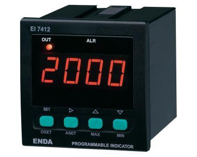 Ενδείκτης Ψηφιακός 72x72mm, IN 4-20 mA / 0-10V