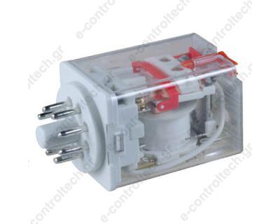 Μικρορελέ Λυχνίας 2CO 10A 24VAC με LED