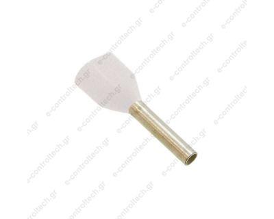 Μύτες Άσπρες 2Χ0.5mm Η0.5/14D (Συσκευασία 100 τμχ)