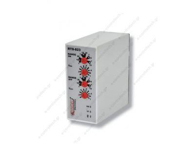 ΧΡΟΝIKO ΔΙΠΛO RT823 Τ1+Τ2 5min 230VAC- 24V AC/DC