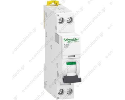 Αυτόματη Ασφάλεια iC40 1P-N  10A C 4,5 KA