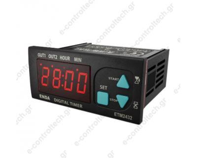 Χρονικό ψηφιακό 1 set point on delay 9-24V AC/DC